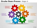 PowerPoint Template Growth Circular Gears Process Ppt Slides