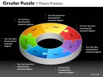 PowerPoint Template Teamwork Circular Puzzle Ppt Slides