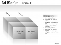 3d Blocks Style 1 PowerPoint Presentation Slides