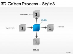 3d Cubes Process Style 3 PowerPoint Presentation Slides