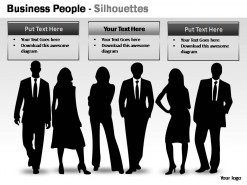 Business People Silhouettes PowerPoint Presentation Slides