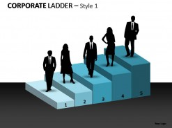 Corporate Ladder Style 1 PowerPoint Presentation Slides
