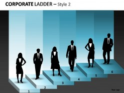 Corporate Ladder Style 2 PowerPoint Presentation Slides