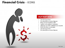 Financial Crisis Icons PowerPoint Presentation Slides