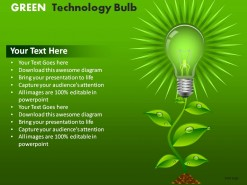 Green Technology Bulb PowerPoint Presentation Slides
