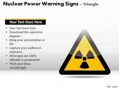 Nuclear Power Warning Signs Triangle PowerPoint Presentation Slides