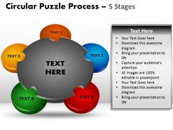 PowerPoint Template Download Circular Puzzle Process Ppt Slides