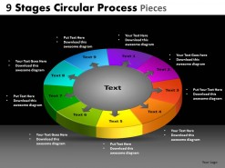 PowerPoint Template Editable Circular Process Ppt Slides