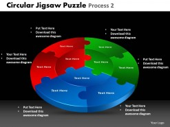 PowerPoint Template Graphic Circular Jigsaw Puzzle Ppt Slides