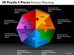 PowerPoint Template Graphic Puzzle Process Ppt Slides