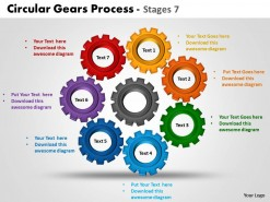 PowerPoint Template Marketing Circular Gears Process Ppt Slides