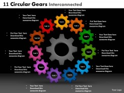 PowerPoint Template Success Circular Gears Ppt Slides