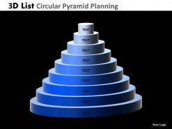 PowerPoint Template Success Circular Pyramid Ppt Slides