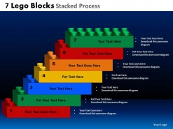 PowerPoint Template Teamwork Lego Blocks Ppt Slides