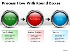 Process Flow With Round Boxes PowerPoint Presentation Slides