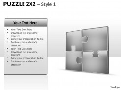 Puzzle 2x2 Style 1 PowerPoint Presentation Slides
