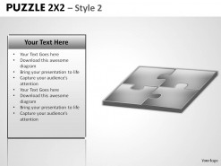 Puzzle 2x2 Style 2 PowerPoint Presentation Slides