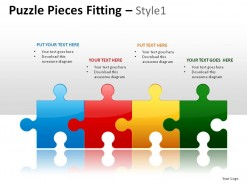 Puzzle Pieces Fitting Style 1 PowerPoint Presentation Slides