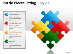Puzzle Pieces Fitting Style 2 PowerPoint Presentation Slides