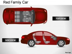 Red Family Car Side View PowerPoint Presentation Slides