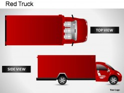 Red Truck Top View PowerPoint Presentation Slides