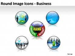 Round Image Icons PowerPoint Presentation Slides