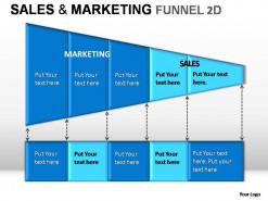 Sale And Marketing Funnel 2d PowerPoint Presentation Slides