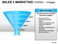 Sales And Marketing Funnel 4 Stages PowerPoint Presentation Slides