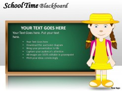School Time Blackboard PowerPoint Presentation Slides