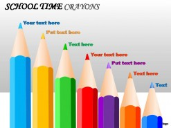 School Time Crayons PowerPoint Presentation Slides