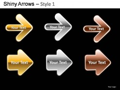 Shiny Arrows Style 1 PowerPoint Presentation Slides