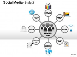 Social Media Style 2 PowerPoint Presentation Slides