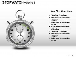 Stopwatch Style 3 PowerPoint Presentation Slides