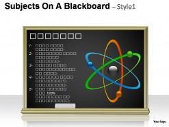 Subjects On A Blackboard Style 1 PowerPoint Presentation Slides