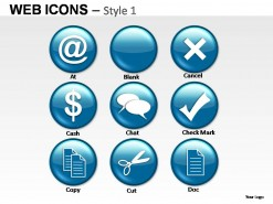 Web Icons Style 1 PowerPoint Presentation Slides