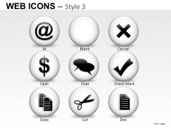 Web Icons Style 3 PowerPoint Presentation Slides