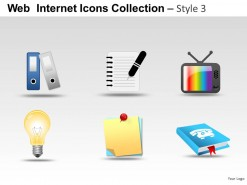 Web Internet Icons Style 3 PowerPoint Presentation Slides