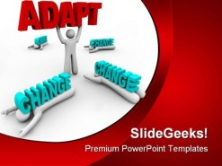 Adapt Change Business PowerPoint Backgrounds And Templates 1210
