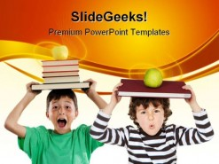 Adorable Children Education PowerPoint Backgrounds And Templates 1210