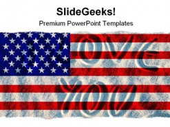 Ameri Flag Symbol PowerPoint Template 1110