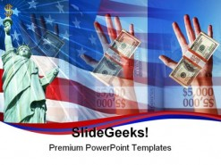 America Economy People PowerPoint Template 1110