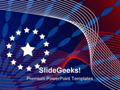 America Flag Star Abstract PowerPoint Template 1110