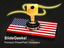 America National Key Security PowerPoint Backgrounds And Templates 1210