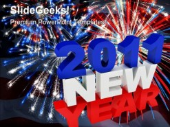 America New Year 2011 Festival PowerPoint Template 1010