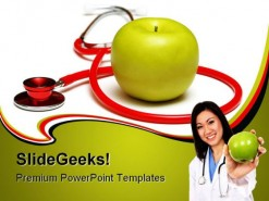 An Apple A Day Health PowerPoint Backgrounds And Templates 1210