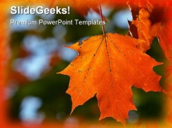 Autumn Maple Leaf Nature PowerPoint Template 1010