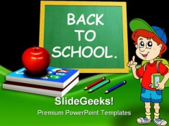 Back To School03 Education PowerPoint Template 0810