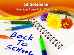 Back To School Education PowerPoint Template 0810