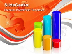 Bar Graph Business PowerPoint Template 0910