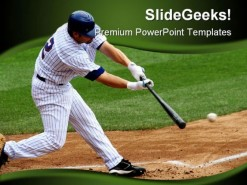 Baseball Sports PowerPoint Template 0610